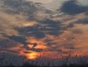 Ondergaande zon De Veenhoop